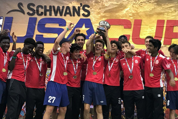 Caledon 2001 Boys win the 2017 Schwan's USA Cup!