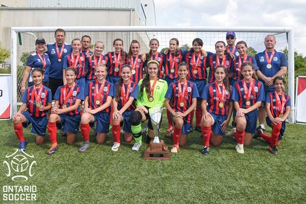 U13 Girls Ontario Cup Champions